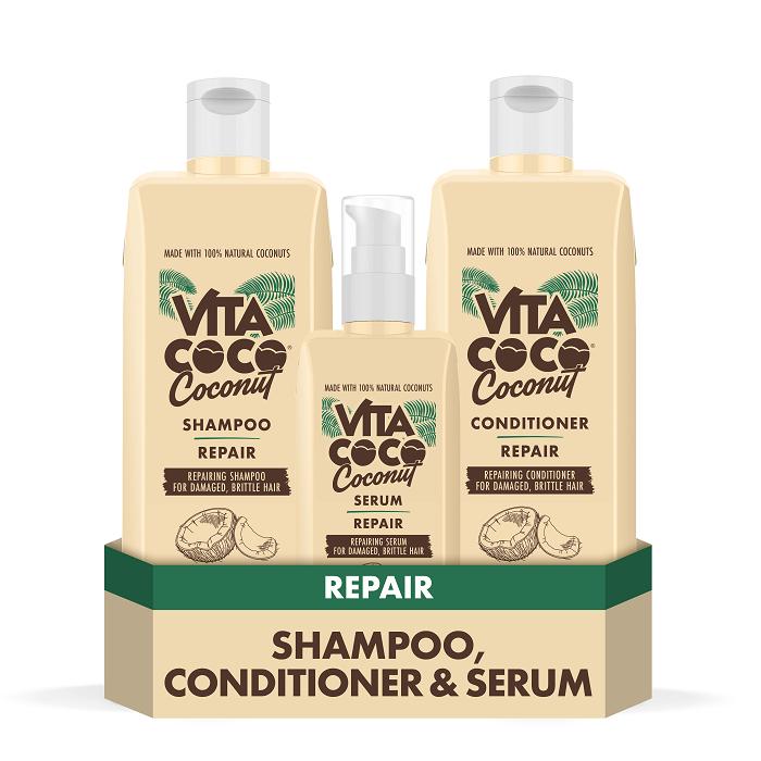 Repairing Coconut Shampoo, Conditioner & Hair Serum
