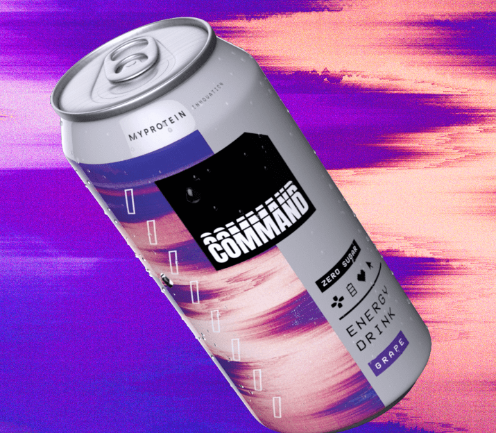 Command energy drink can