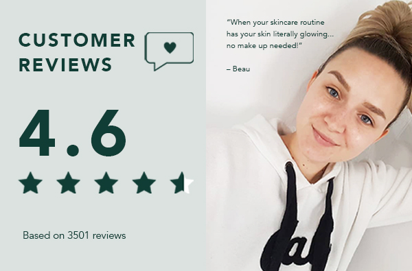 Customer reviews on average 4.6 stars based on 4000 plus reviews. Girl on right hand side,