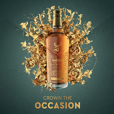 Crown the occasion Glenfiddich.