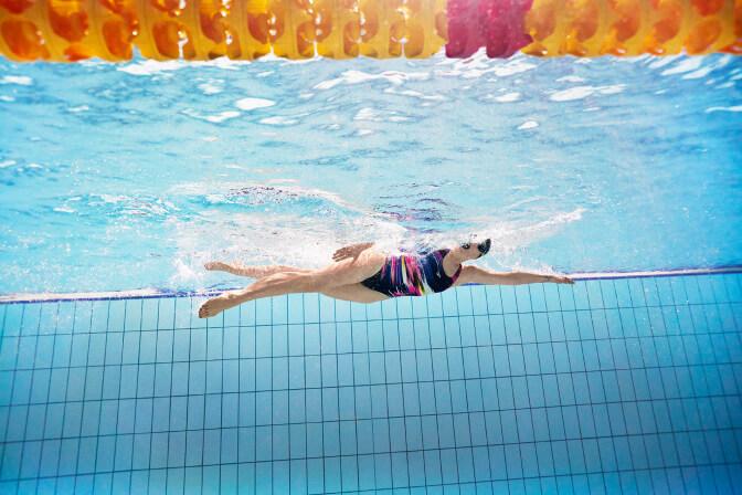 female fitness swimwear