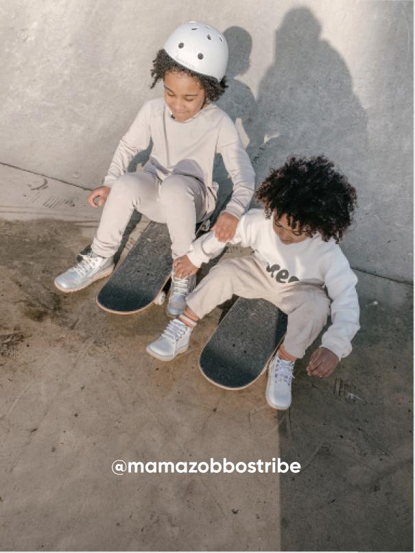 Two Boys on Skateboards - Visit Kickers Kids Instagram