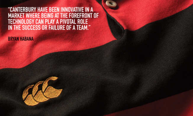 canterbury have been innovative in a market where being at the forefront of technology can play a pivotal role in the success or failure of a team. by Bryan Habana