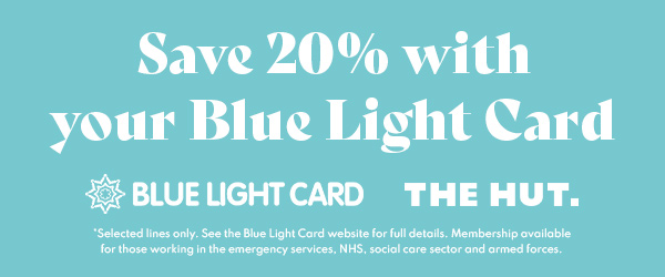 Save 20% on selected orders with your Blue Light Card