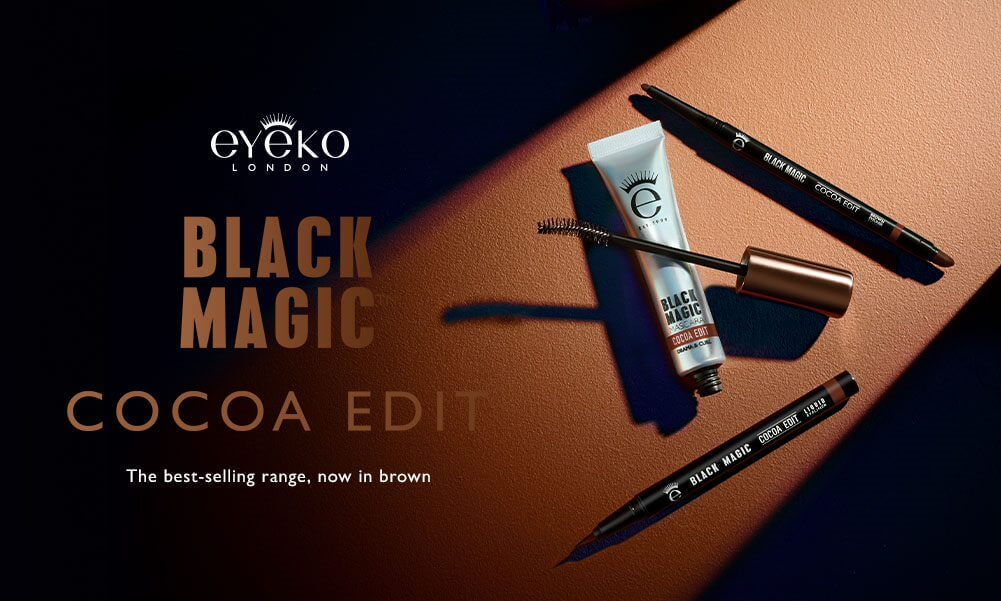 Brand new to Eyeko - the Cocoa Edit, the best selling Black Magic range now in brown