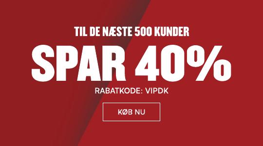 40% til de næste 500 kunder
