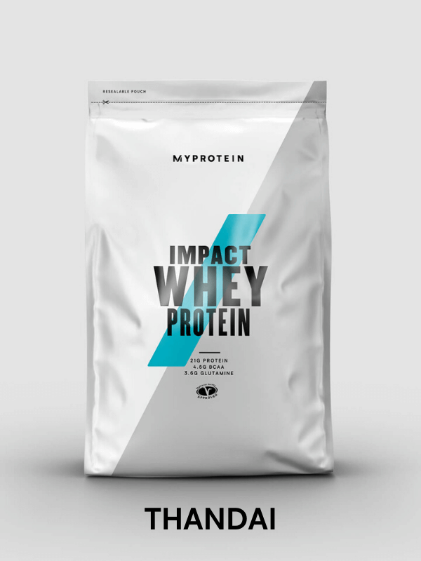 Impact Whey Protein thandai flavour - 19g of protein per serving