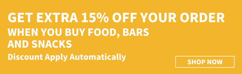 Extra 15% Off Food, Bars and Snacks