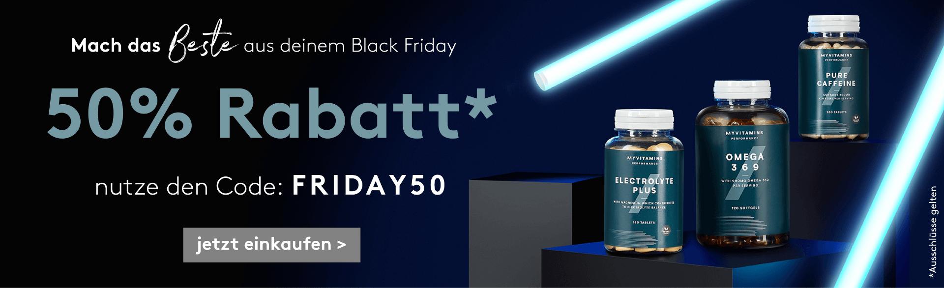 Genieße 50% Black Friday Rabatt!