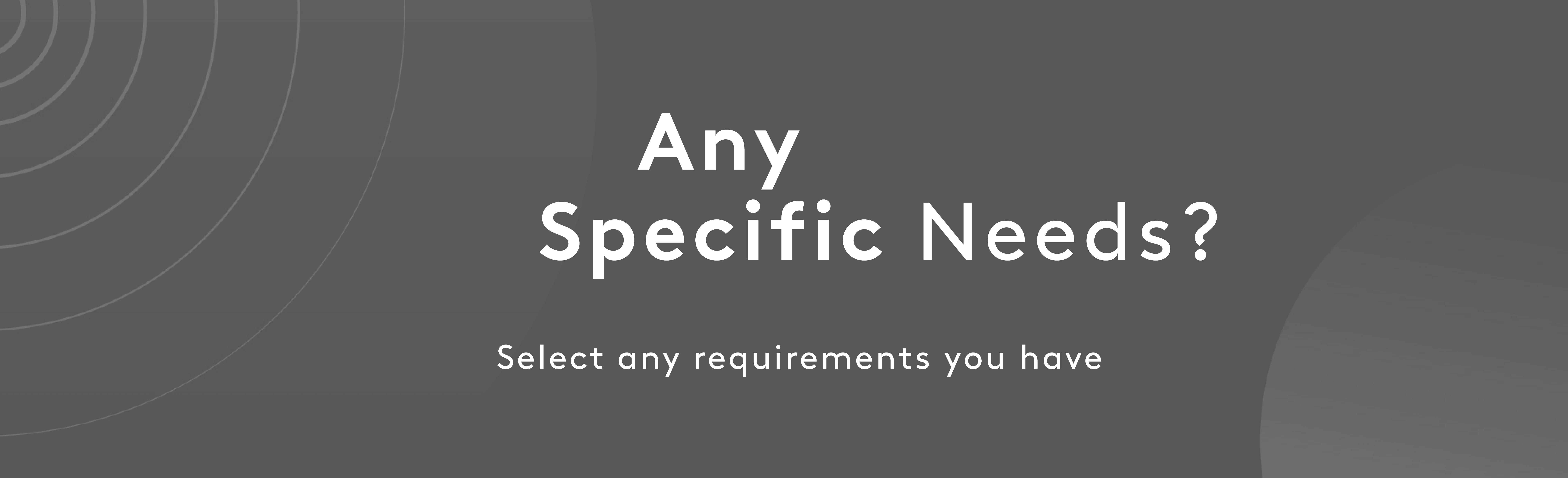 Any specific needs | Myvitamins
