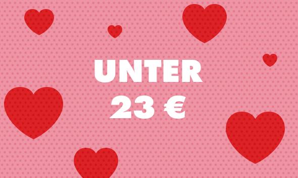 Valentinstag Geschenke unter 23 €