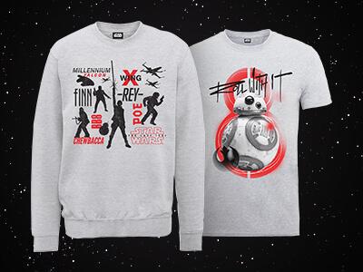 Star Wars Sweatshirt and Star Wars T-shirt only £24.99