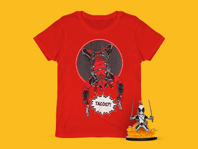 Deadpool Figuirne & T-Shirt Only £8.99