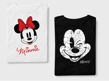 2 For £25 Disney T-Shirts