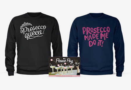 Prosecco Pong + Sweatshirt for £24.99