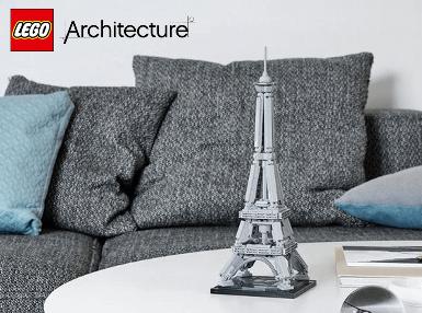 <b>乐高</b> ARCHITECTURE <b>建筑系列<br>埃菲尔铁塔</b> (21019)