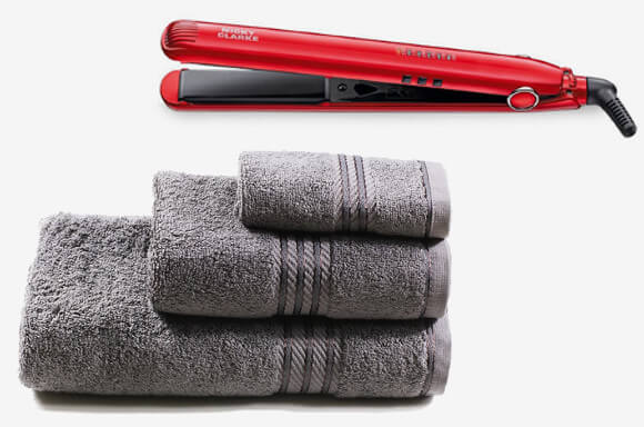 PERFECT FOR MOTHER'S DAY... NICKY CLARKE STRAIGHTENERS AND LUXURY TOWEL BUNDLE - ONLY £32.99!