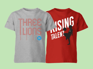 2 for £14.99 Football Kids' T-Shirts