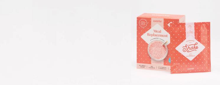 Mahlzeitenersatz Erdbeere Shake Pakete