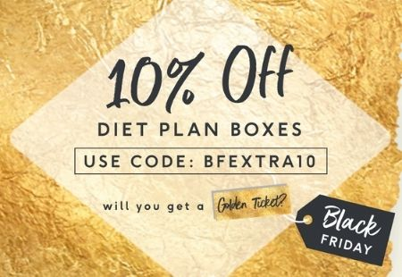 10% Off 4 week diet plan box use code: BFEXTRA10 will you get a golden ticket