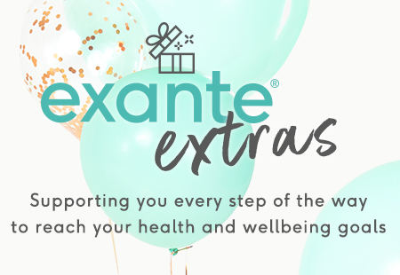 exante extras - supporting you every step of the way to reach your health and wellbeing goals