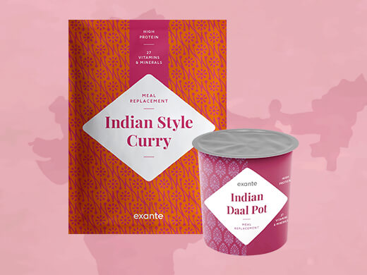Daal Pot de la India y Curry al estilo indio con Arroz.