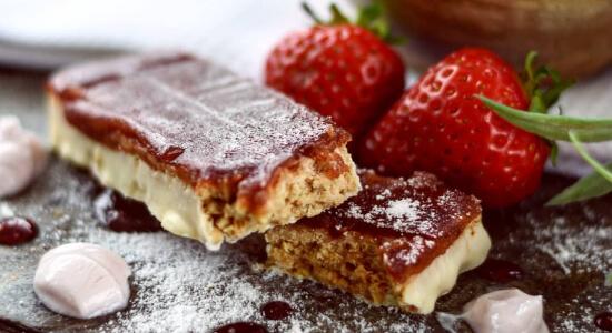 Barrita de Mermelada de Fresa y Yogurt de la Dieta Exante España