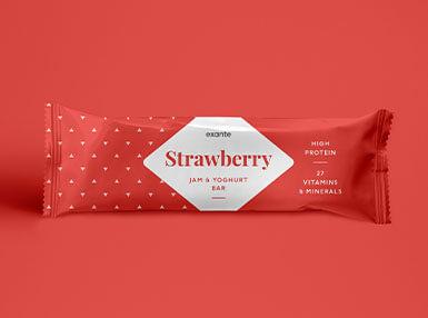 Barrita de Mermelada de Fresa y Yogurt | Dieta Exante