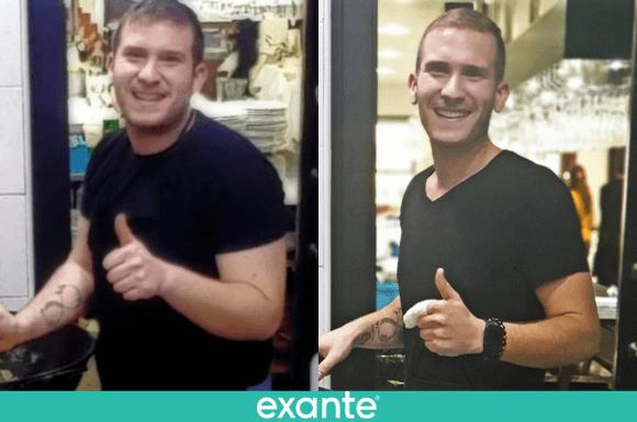 José Ángel <br>ha perdido 37,7kg