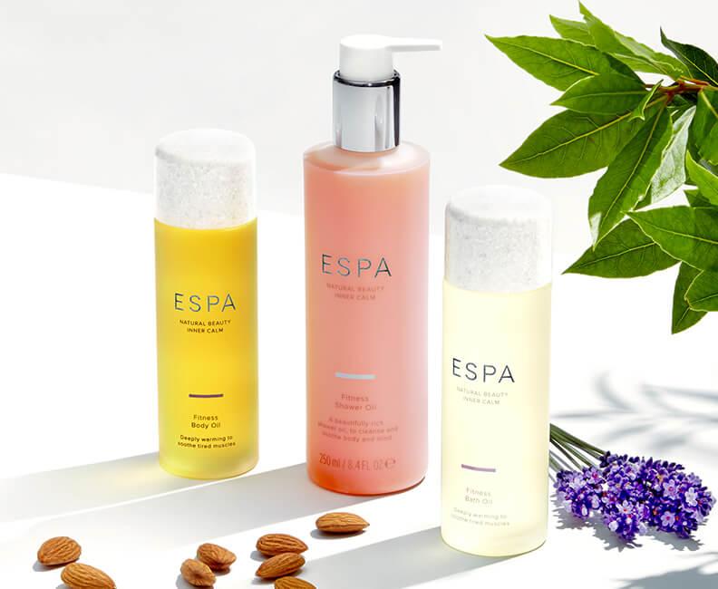 ESPA Olej do koupele, Krém na ruce & Tělové mléko
