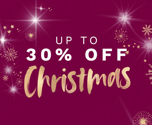 Up to 30% off Christmas