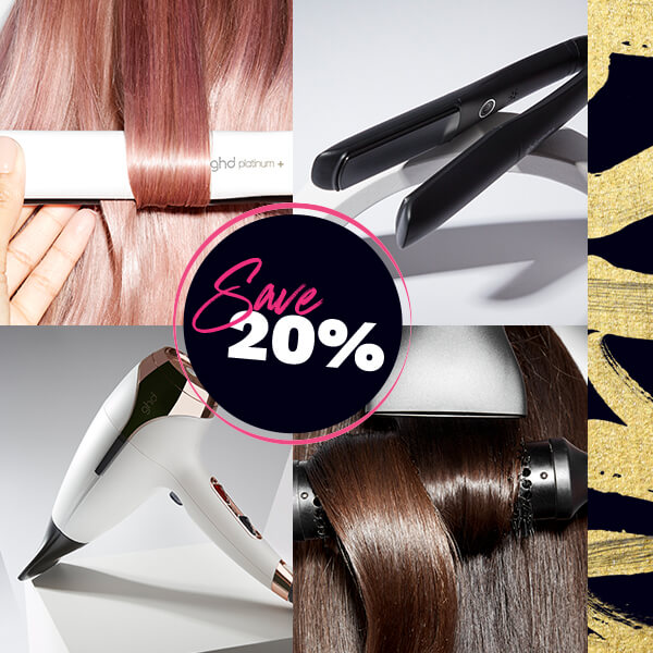 Always have a good hair day with ghd, plus new customers save 20% on selected when you use code: NEWBIE at basket.