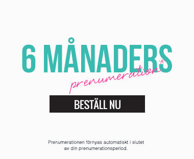 text: 6 månaders abonnemang för Beauty Box