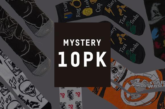 10-PACK MYSTERY GEEK SOCKS