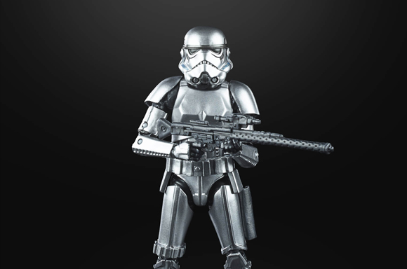 Hasbro Star Wars The Black Series Carbonized Metallic Stormtrooper Action Figur