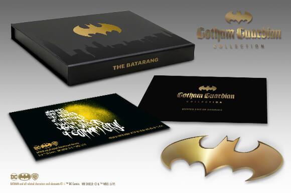 LIMITED EDITION GOLD BATMAN BATARANG