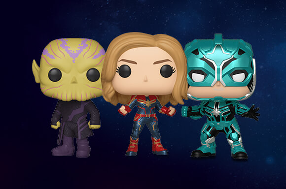 3 FOR £30 CAPTAIN MARVEL POP! VINYL