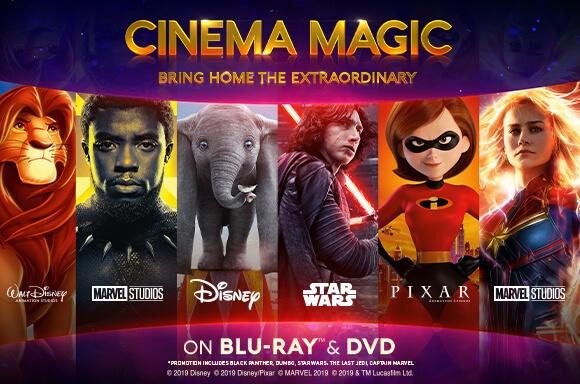 DISNEY BLU-RAY, DVD, 3D & 4K ULTRA HD