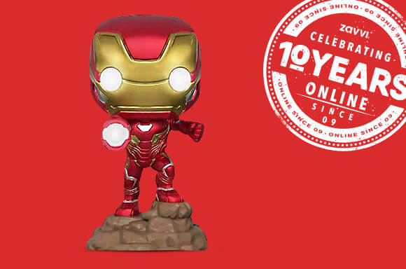 AVENGERS: INFINITY WAR IRON MAN (LIGHT UP) EXC POP! VINYL