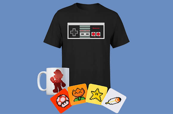 Nintendo Mug, Coaster Set & T-shirt