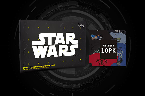 10 FREE T-SHIRTS WITH STAR WARS ADVENT CALENDAR