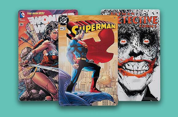 DC Comics Tin Plates BOGOF