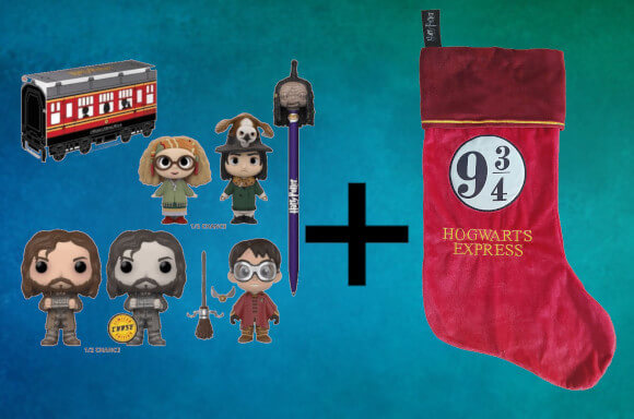 HARRY POTTER CHRISTMAS STOCKING & MYSTERY FUNKO BOX