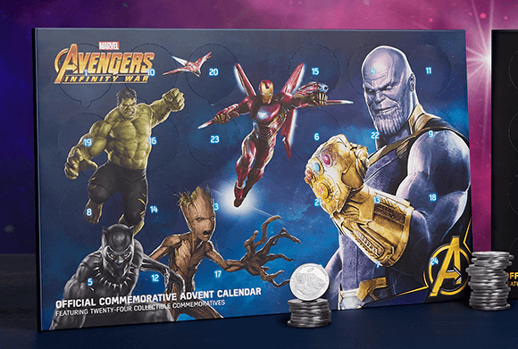MARVEL AVENGERS: INFINITY WAR COLLECTION COIN ADVENT CALENDAR