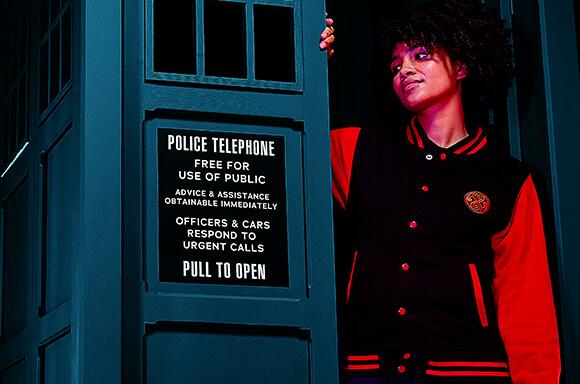 Veste Teddy Unisexe Doctor Who Gallifreyan