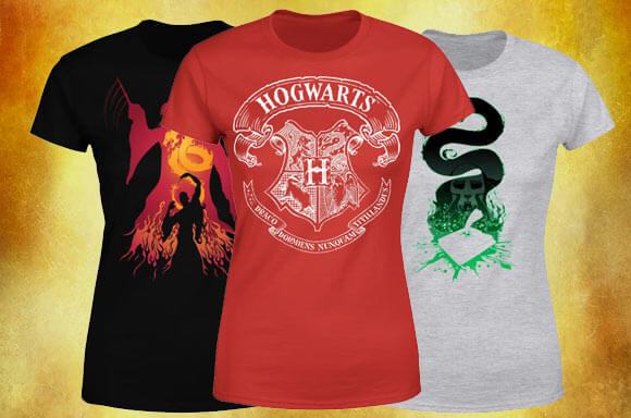 3 T-SHIRTS HARRY POTTER POUR 2