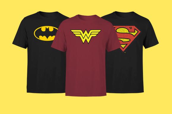 T-SHIRT DC COMICS BATMAN SUPERMAN