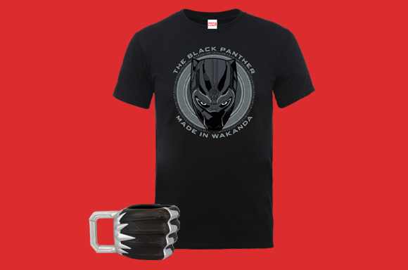 MARVEL T-SHIRT BLACK PANTHER TAZZA