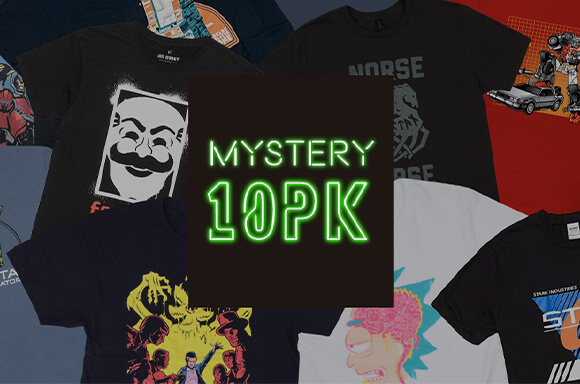 MYSTERY 10 PACK <BR> T-SHIRTS