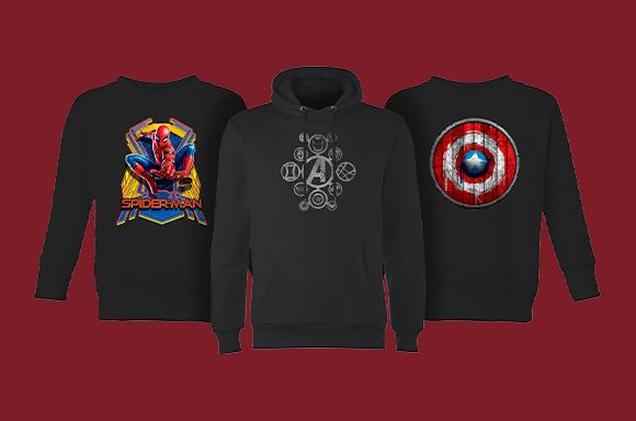 40% Korting op Marvel Hoodies en Sweaters
